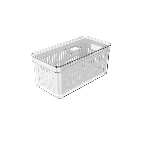 Organizador-De-Geladeira-Com-Cesto-Clear-Fresh-30-x-15-x-13cm-Ou
