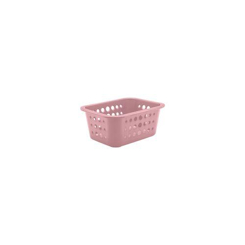 Cesta-Organizadora-P-15-Litros-185-x-145-x-8cm-Rosa-Quartz