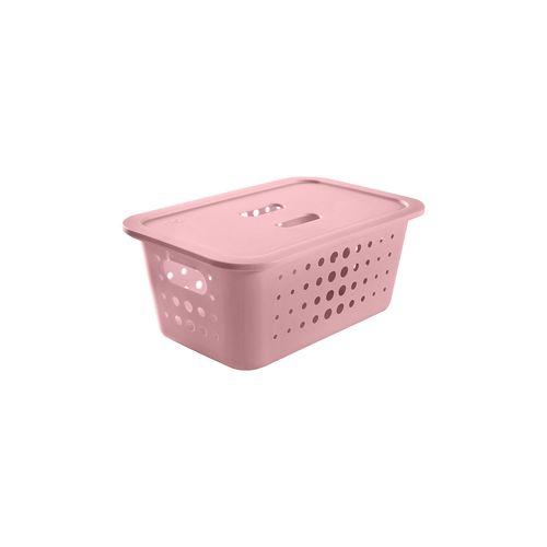 Cesta-Organizadora-M-5-Litros-Com-Tampa-29-x-20-x-13cm-Rosa-Quartz