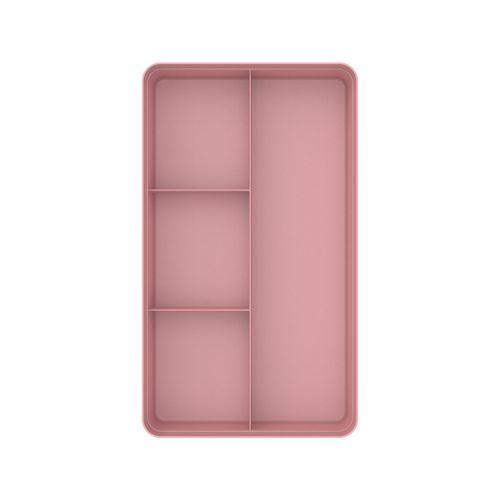 Organizador-De-Gavetas-4-Sessoes-Colmeia-Logic-35-x-20-x-75cm-Ou-Rosa-Quartz-Top