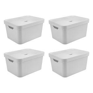 Conjunto-Caixa-Organizadora-Cube-com-Tampa-32-Litros-4-pecas-Branco